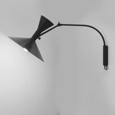Nemo Lampe de Marseille Mini lampada parete con braccio orientabile