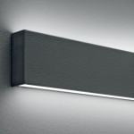 Linea Light Box W LED 92 cm Applique Biemissione Metallo