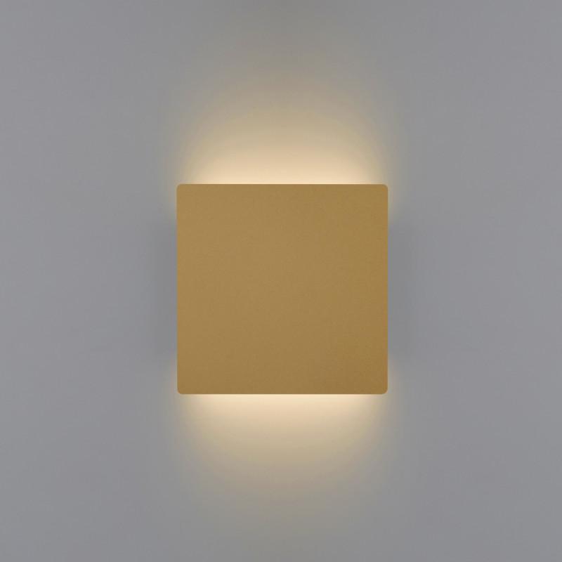 Biluce MATTONELLA Oro Applique LED 15W Quadrata Biemissione Extra Piatta