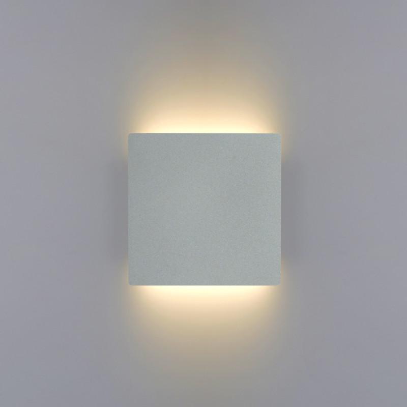 Biluce MATTONELLA Argento Applique LED 15W Quadrata Biemissione Extra Piatta