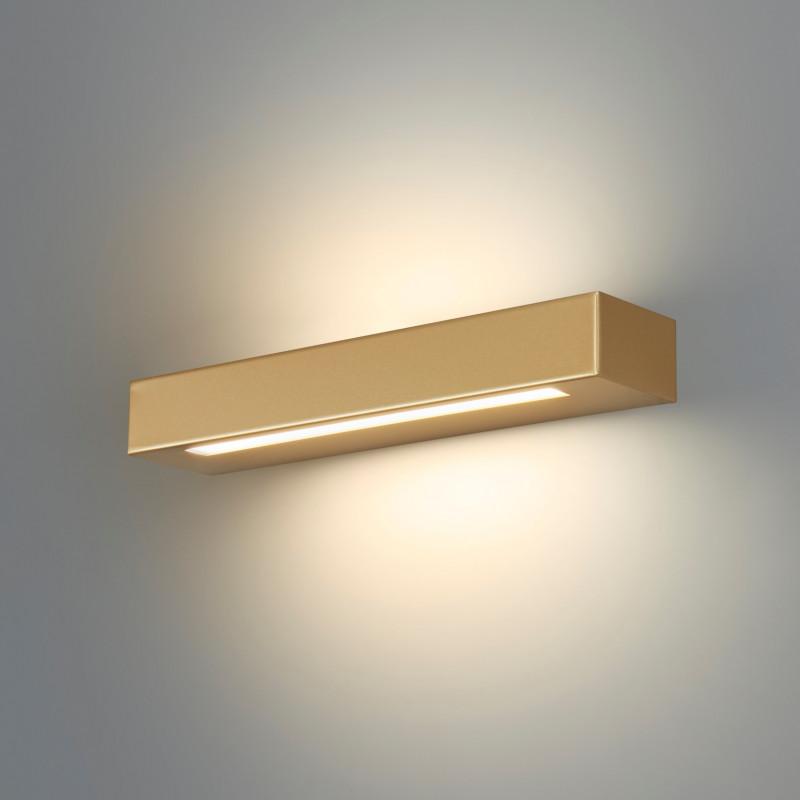 Essenza 36 Cm Oro - Applique 28w Led Moderna Biemissione Made In Italy Classe A+