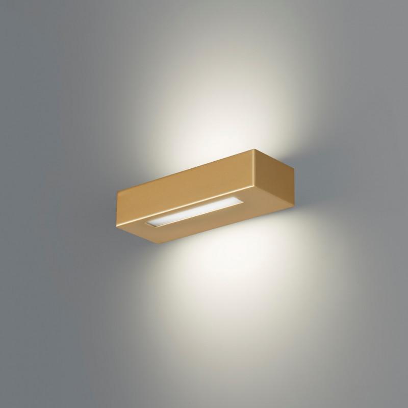 Essenza 22 Cm Oro - Applique 14w Led Moderna Biemissione Made In Italy Classe A+