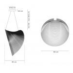 Luceplan ILLAN D 60 cm Sospensione LED in legno di Betulla